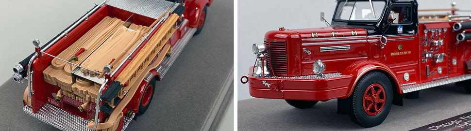 Close up images 9-10 of Chicago FWD Engine 45 scale model