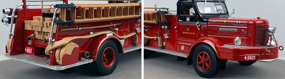 Close up images 1-2 of Chicago FWD Engine 45 scale model