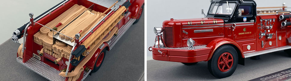 Close up images 3-4 of Chicago FWD Engine 61 scale model