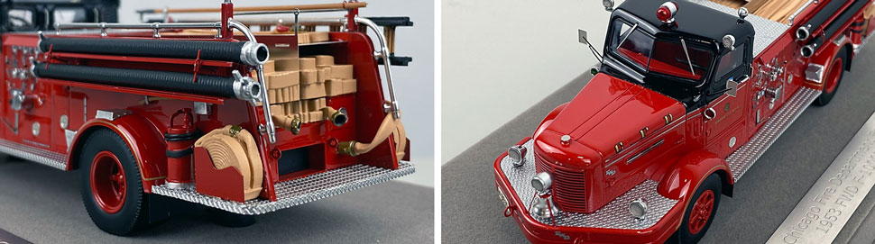 Close up images 7-8 of Chicago FWD Engine 61 scale model