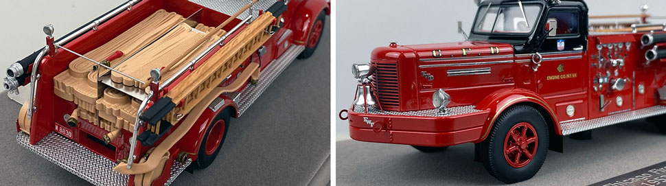 Close up images 7-8 of Chicago FWD Engine 66 scale model