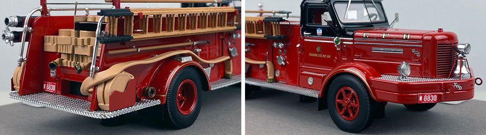 Close up images 1-2 of Chicago FWD Engine 66 scale model