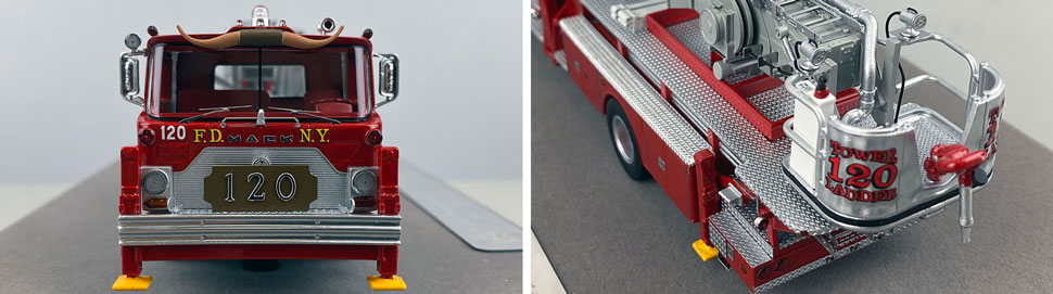 Closeup pictures 1-2 of FDNY's 1973 Mack CF/Baker Tower Ladder 120 scale model
