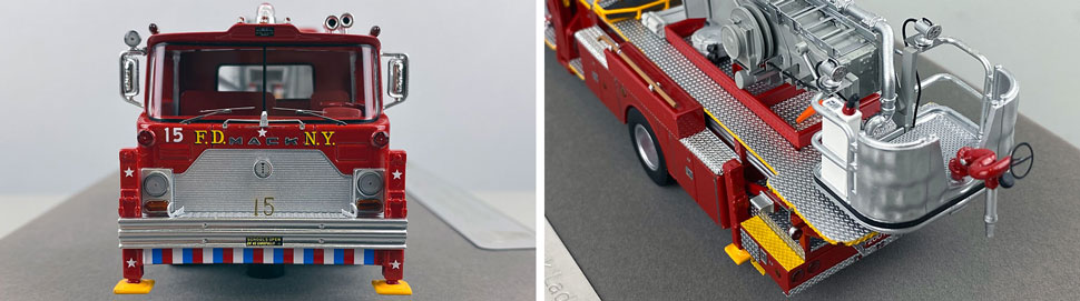 Closeup pictures 1-2 of FDNY's 1973 Mack CF/Baker Tower Ladder 15 scale model