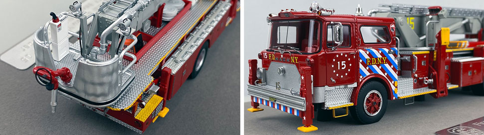 Closeup pictures 3-4 of FDNY's 1973 Mack CF/Baker Tower Ladder 15 scale model