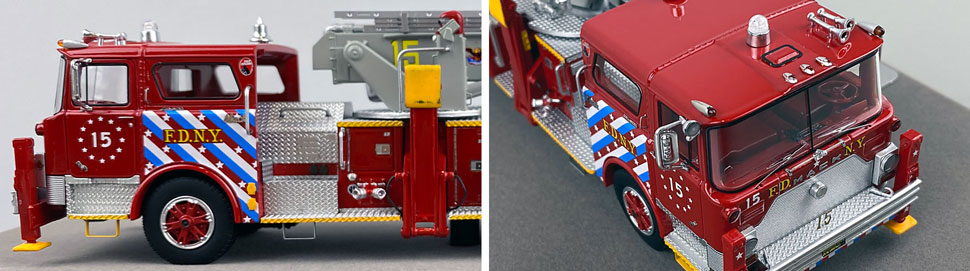Closeup pictures 5-6 of FDNY's 1973 Mack CF/Baker Tower Ladder 15 scale model