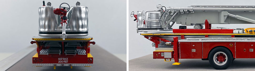 Closeup pictures 9-10 of FDNY's 1973 Mack CF/Baker Tower Ladder 15 scale model