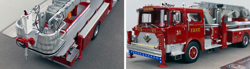 Closeup pictures 3-4 of FDNY's 1973 Mack CF/Baker Tower Ladder 31 scale model