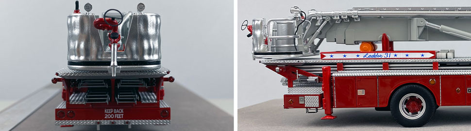 Closeup pictures 9-10 of FDNY's 1973 Mack CF/Baker Tower Ladder 31 scale model