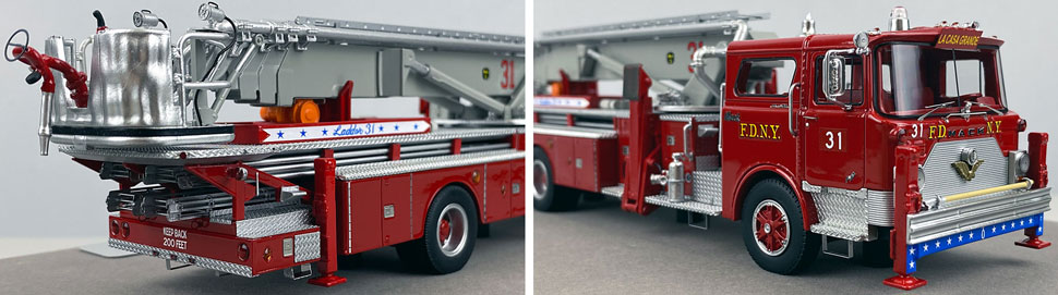 Closeup pictures 11-12 of FDNY's 1973 Mack CF/Baker Tower Ladder 31 scale model