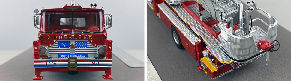 Closeup pictures 1-2 of FDNY's 1972 Mack CF/Baker Tower Ladder 9 scale model