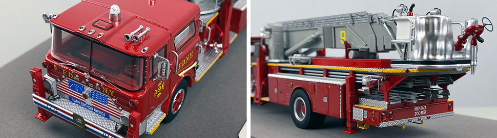 Closeup pictures 7-8 of FDNY's 1972 Mack CF/Baker Tower Ladder 9 scale model