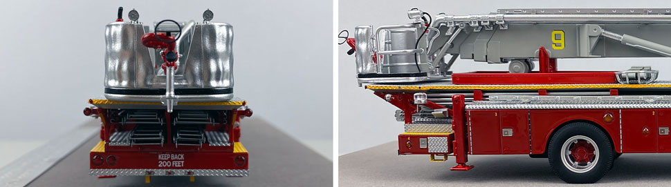 Closeup pictures 9-10 of FDNY's 1972 Mack CF/Baker Tower Ladder 9 scale model