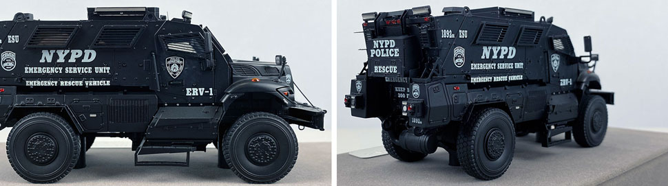 Close up images 13-14 of NYPD ERV-1 scale model