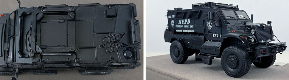 Close up images 5-6 of NYPD ERV-1 scale model