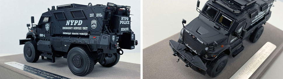 Close up images 11-12 of NYPD ERV-1 scale model