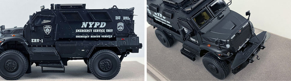 Close up images 3-4 of NYPD ERV-1 scale model