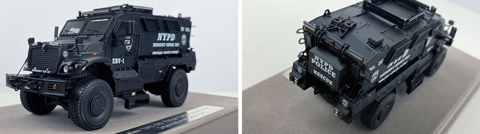 Close up images 9-10 of NYPD ERV-1 scale model