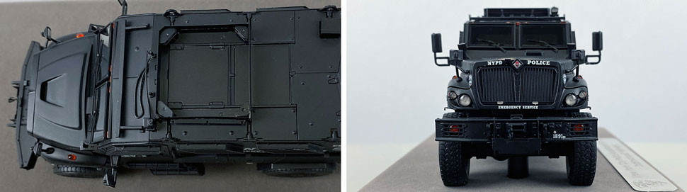 Close up images 7-8 of NYPD ERV-2 scale model