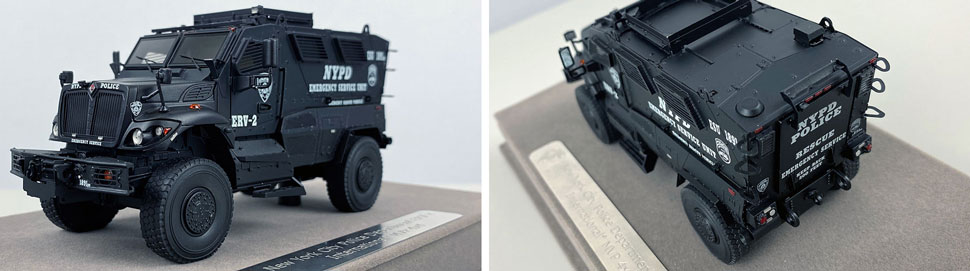 Close up images 9-10 of NYPD ERV-2 scale model