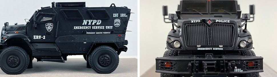 Close up images 5-6 of NYPD ERV-2 scale model