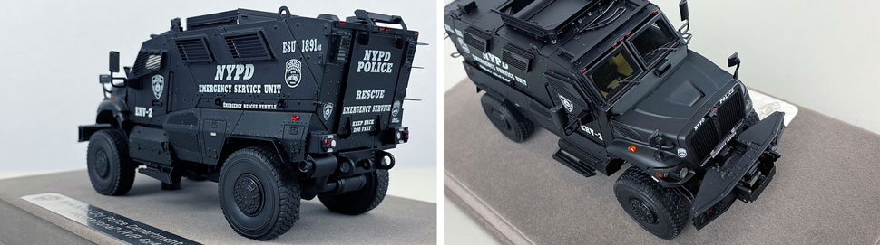 Close up images 11-12 of NYPD ERV-2 scale model
