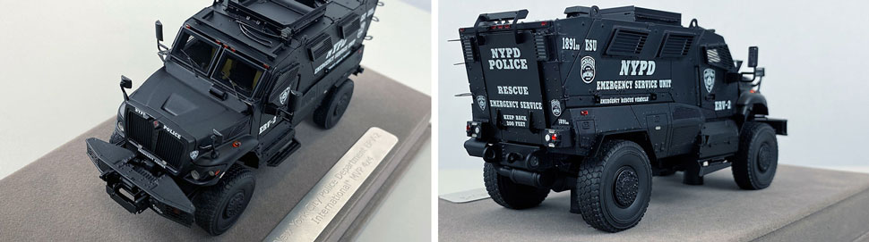 Close up images 3-4 of NYPD ERV-2 scale model