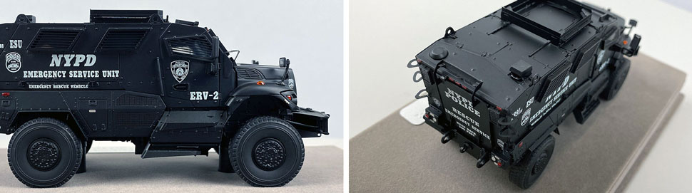 Close up images 13-14 of NYPD ERV-2 scale model