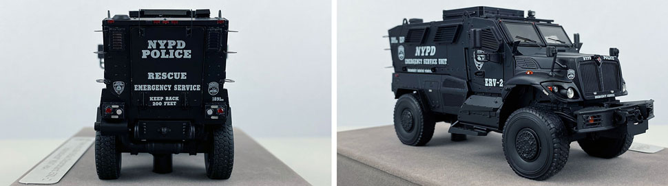 Close up images 1-2 of NYPD ERV-2 scale model