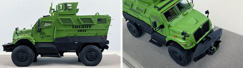 Close up images 11-12 of International MVP 4x4 Sheriff SWAT scale model