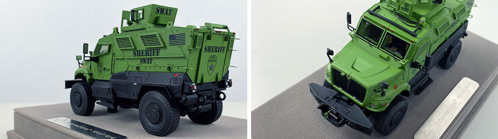 Close up images 3-4 of International MVP 4x4 Sheriff SWAT scale model
