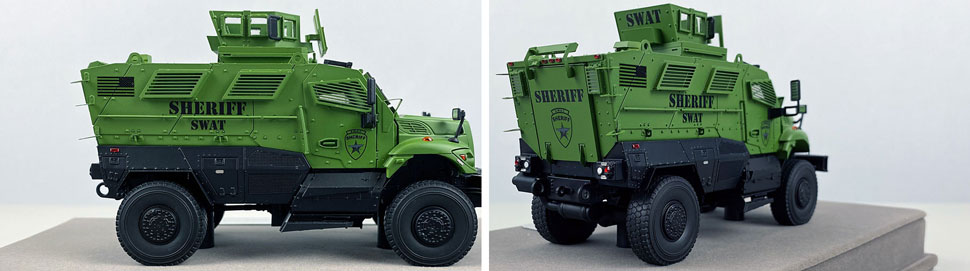 Close up images 1-2 of International MVP 4x4 Sheriff SWAT scale model