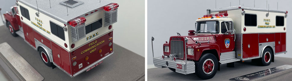 Closeup pictures 1-2 of the FDNY 1985 Mack R-Saulsbury Field Communications scale model