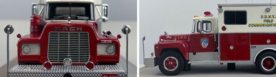 Closeup pictures 13-14 of the FDNY 1985 Mack R-Saulsbury Field Communications scale model