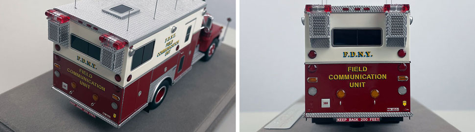 Closeup pictures 11-12 of the FDNY 1985 Mack R-Saulsbury Field Communications scale model