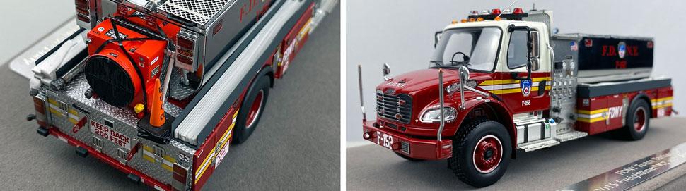 Closeup images 3-4 of FDNY Foam Tender 152 scale model