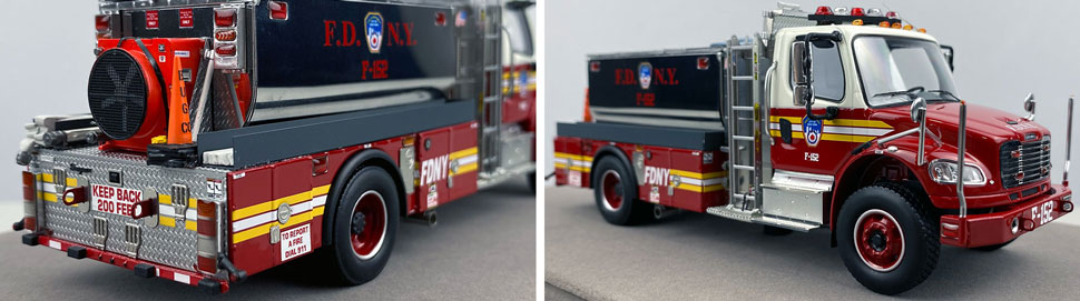 Closeup images 11-12 of FDNY Foam Tender 152 scale model