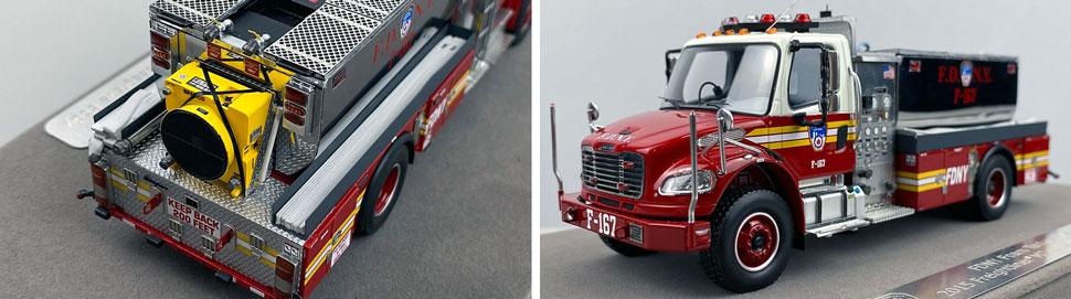 Closeup images 3-4 of FDNY Foam Tender 167 scale model