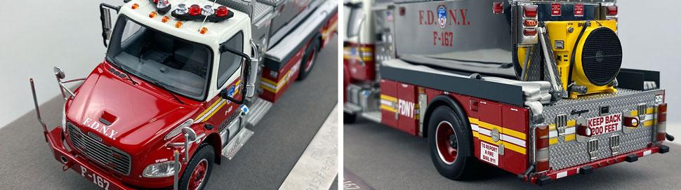 Closeup images 7-8 of FDNY Foam Tender 167 scale model