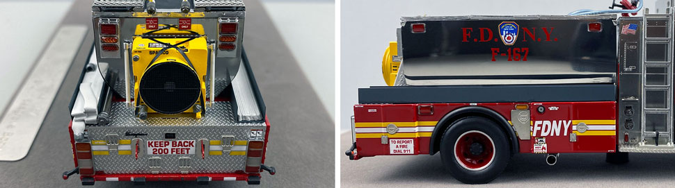 Closeup images 9-10 of FDNY Foam Tender 167 scale model