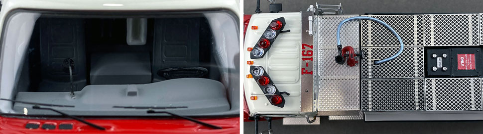 Closeup images 13-14 of FDNY Foam Tender 167 scale model