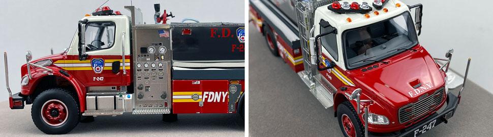 Closeup images 5-6 of FDNY Foam Tender 247 scale model
