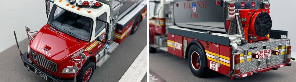 Closeup images 7-8 of FDNY Foam Tender 247 scale model