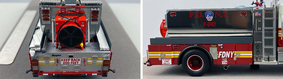 Closeup images 9-10 of FDNY Foam Tender 247 scale model