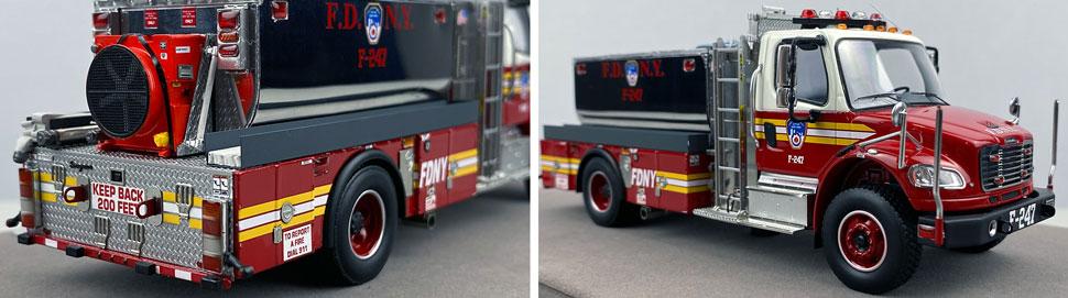 Closeup images 11-12 of FDNY Foam Tender 247 scale model