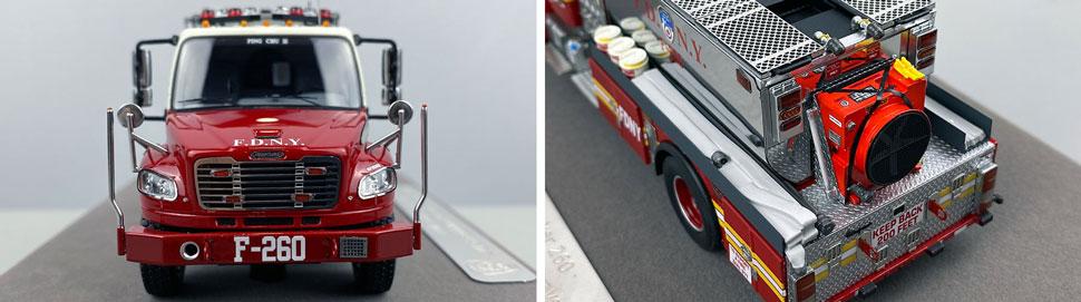 Closeup images 1-2 of FDNY Foam Tender 260 scale model