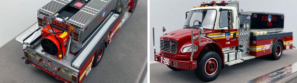 Closeup images 3-4 of FDNY Foam Tender 260 scale model