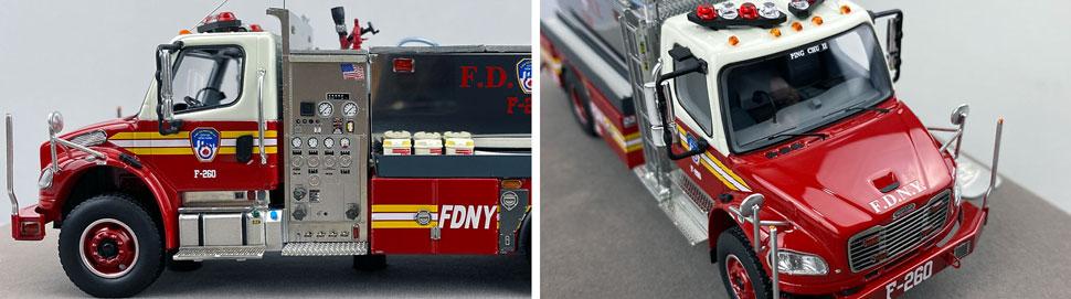 Closeup images 5-6 of FDNY Foam Tender 260 scale model