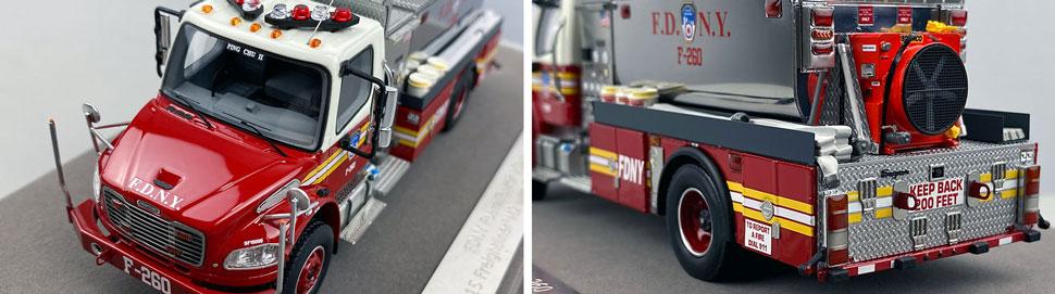Closeup images 7-8 of FDNY Foam Tender 260 scale model