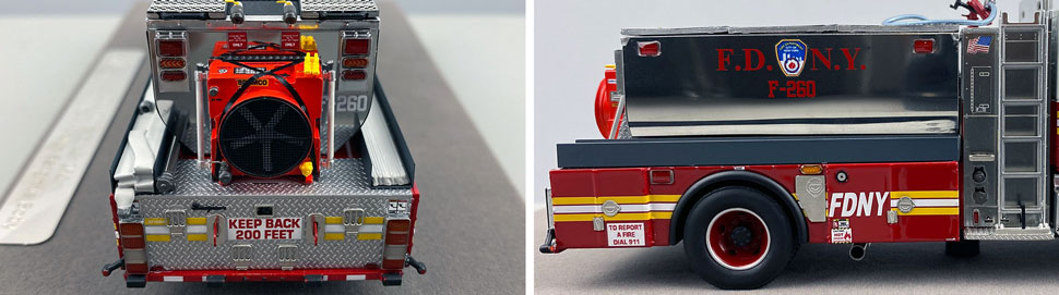 Closeup images 9-10 of FDNY Foam Tender 260 scale model